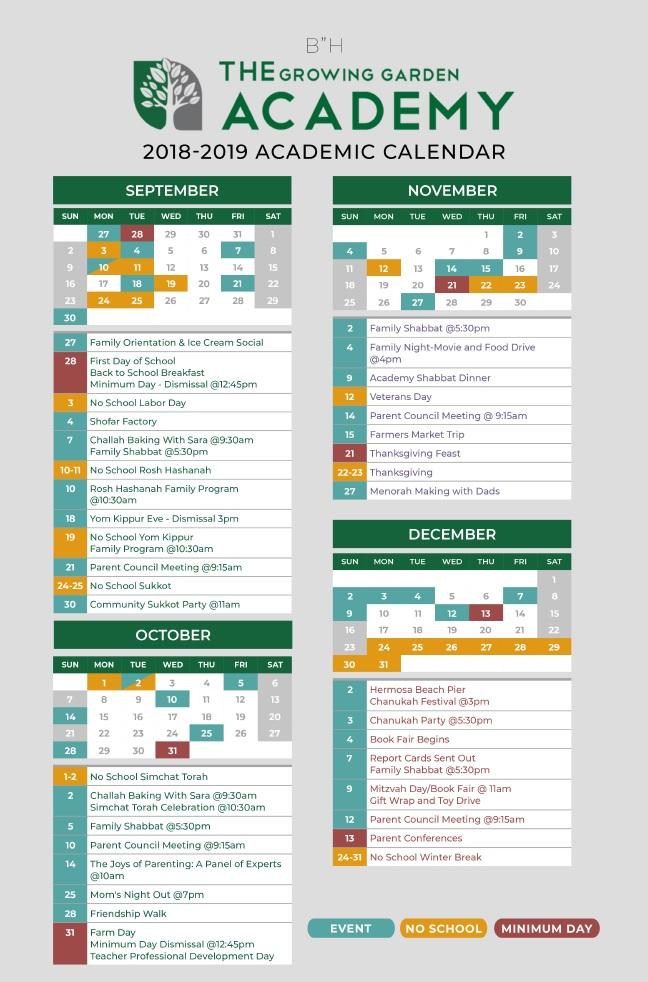 Calendar 2018-2019 1